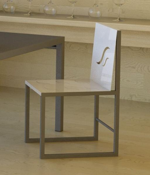 chaise metal design leodie. Black Bedroom Furniture Sets. Home Design Ideas