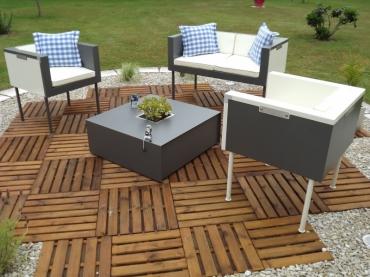 salon de jardin metal kubb. Black Bedroom Furniture Sets. Home Design Ideas