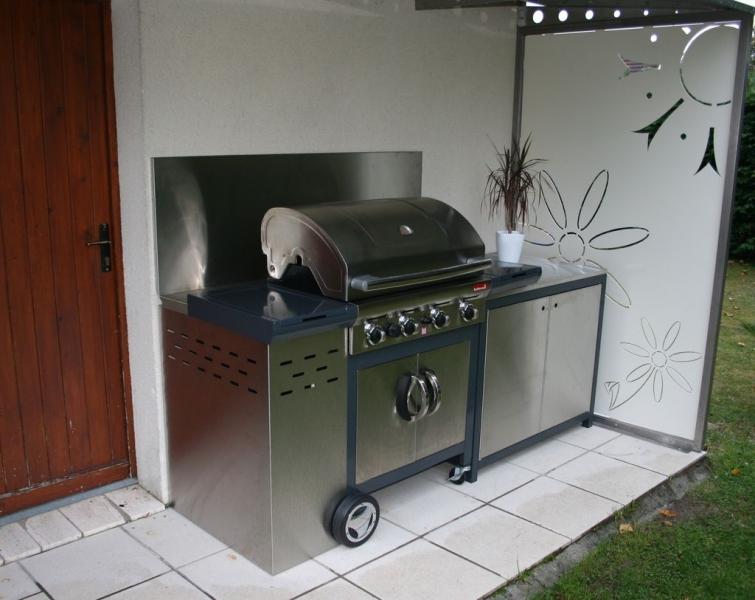 meuble métallique aménagement barbecue Meubles métallique # Meubles Metalliques